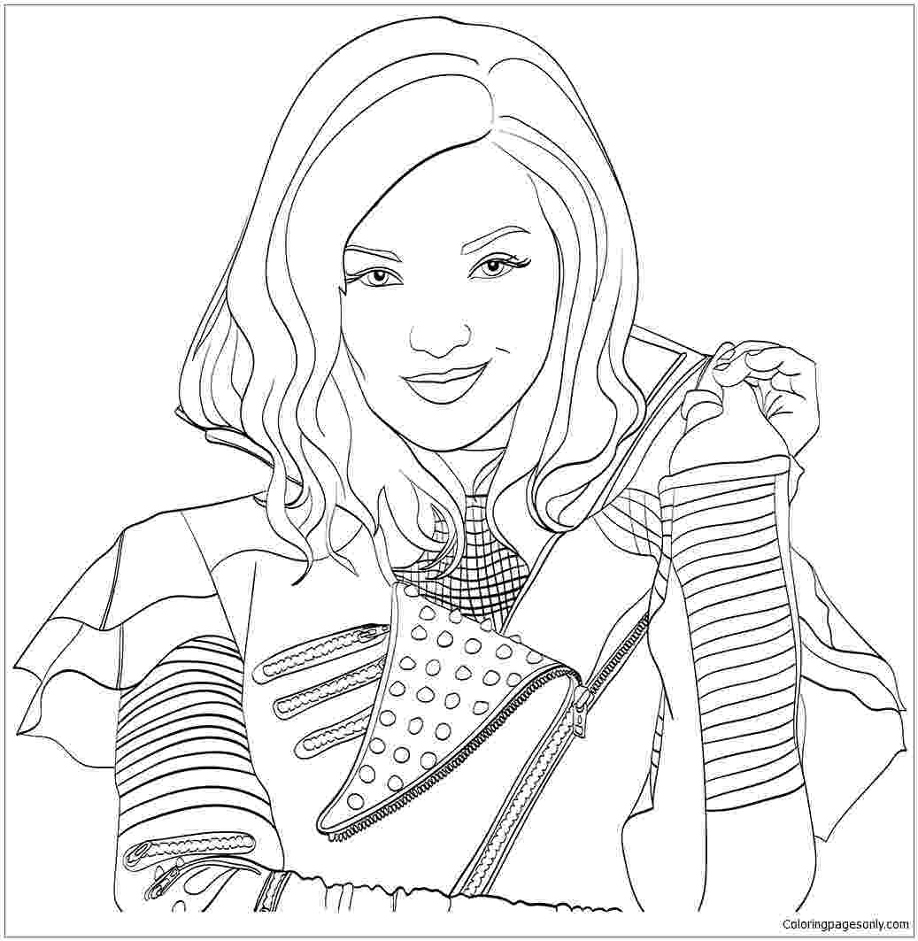 free printable coloring pages disney descendants disney descendants coloring pages free descendants descendants pages printable free coloring disney