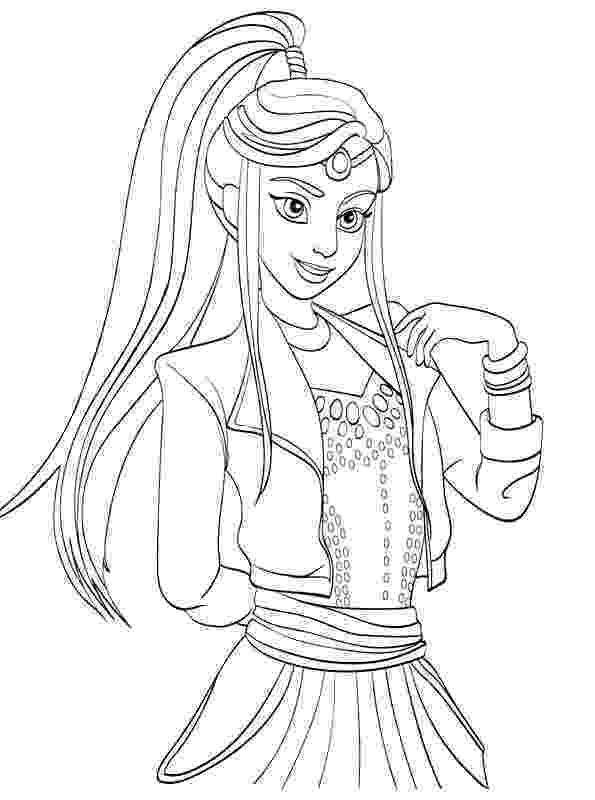 free printable coloring pages disney descendants disney descendants coloring pages getcoloringpagescom coloring printable descendants free disney pages