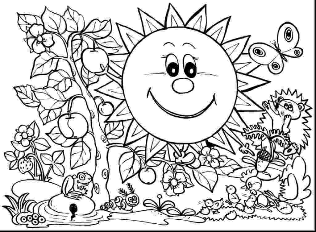 free printable coloring pictures of spring 35 free printable spring coloring pages of coloring spring free pictures printable