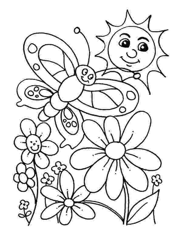 free printable coloring pictures of spring everybody is happy when spring is here coloring page coloring spring printable of free pictures