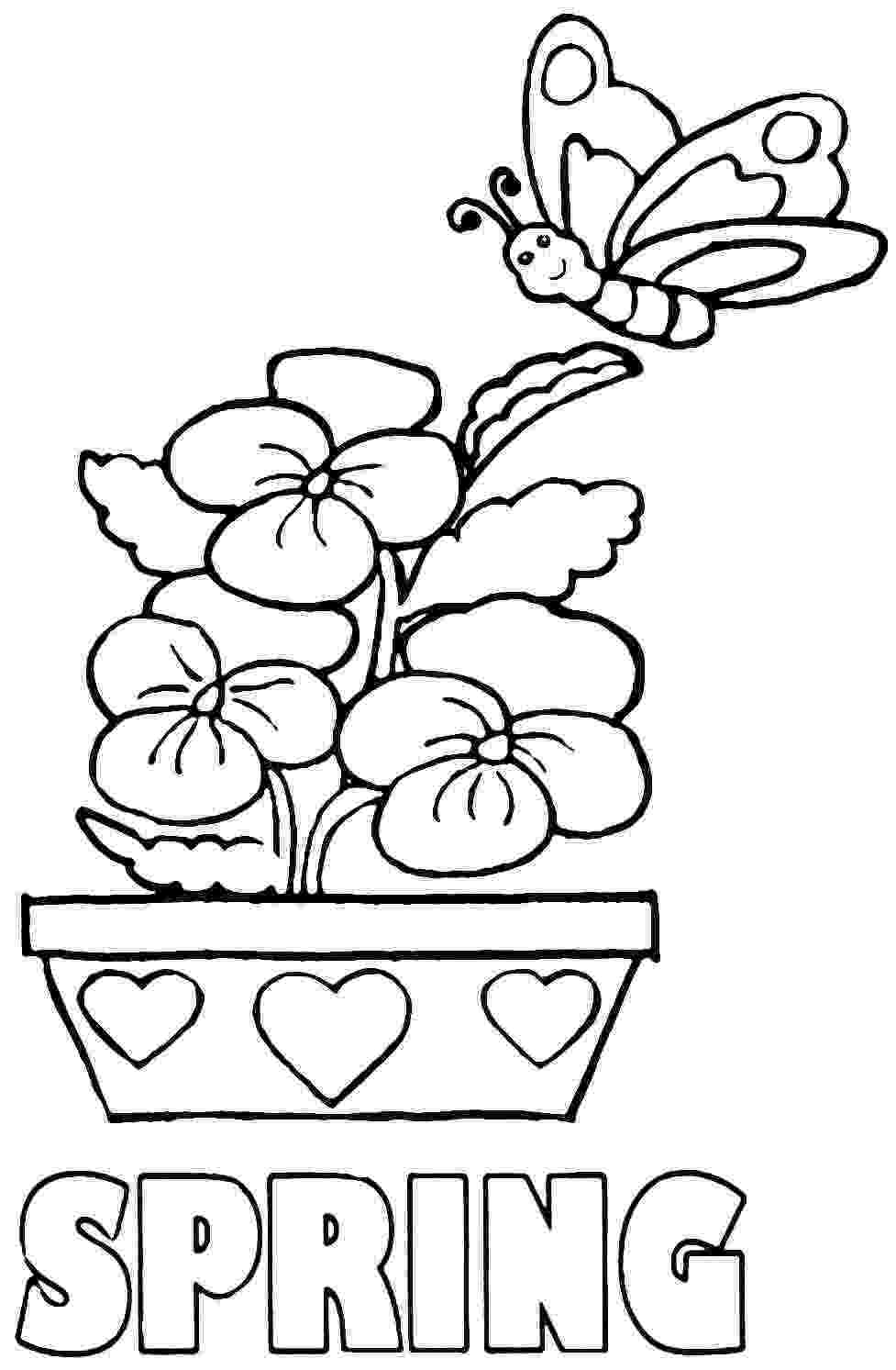 free printable coloring pictures of spring full size spring coloring sheets printable pictures spring free coloring of