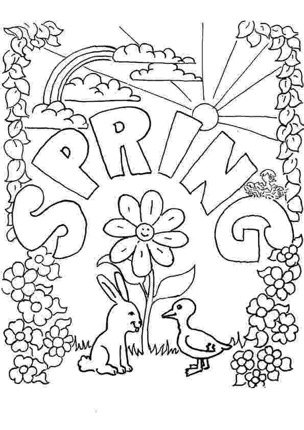 free printable coloring pictures of spring spring coloring pages best coloring pages for kids free printable pictures spring coloring of