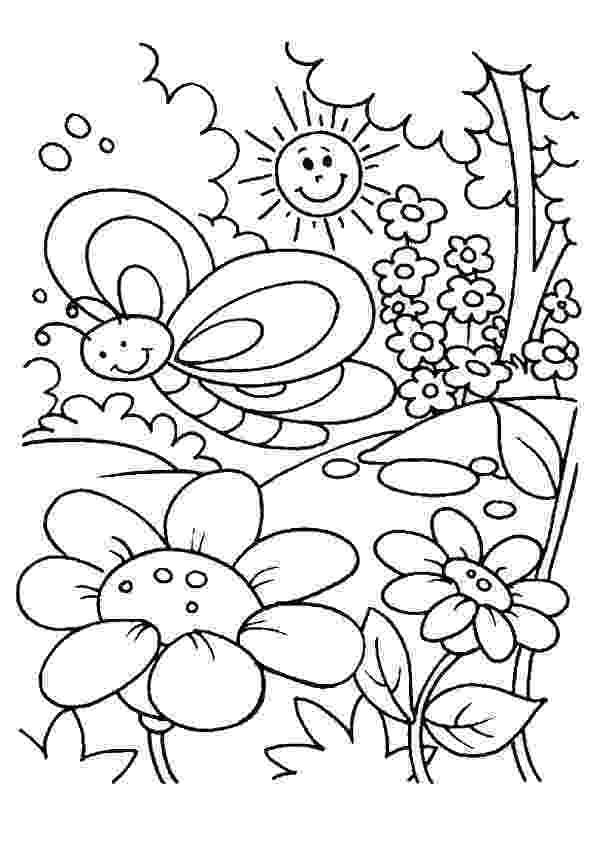 free printable coloring pictures of spring spring pages pdf coloring pages coloring free of spring printable pictures