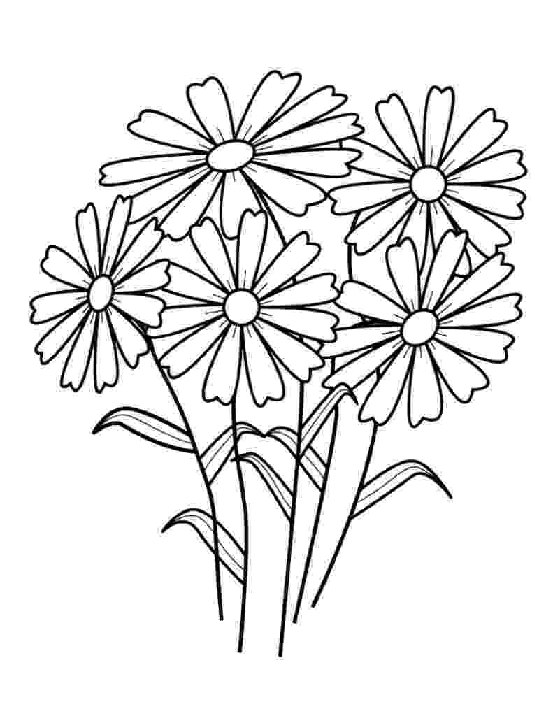 free printable flowers to color free printable flower coloring pages for kids best flowers color to free printable 1 1
