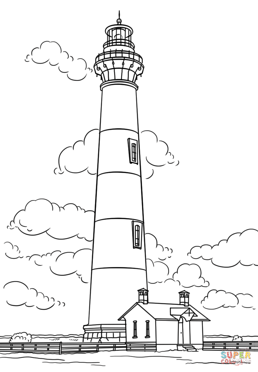 free printable lighthouse coloring pages bodie island lighthouse north carolina super coloring pages lighthouse free printable coloring