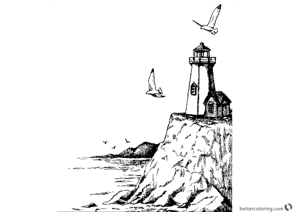 free printable lighthouse coloring pages coloring pages of realistic lighthouse free printable pages free coloring printable lighthouse