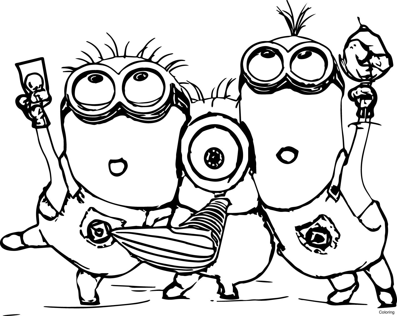 free printable minion coloring pages minions coloring pages to print coloring pages for kids pages free minion coloring printable