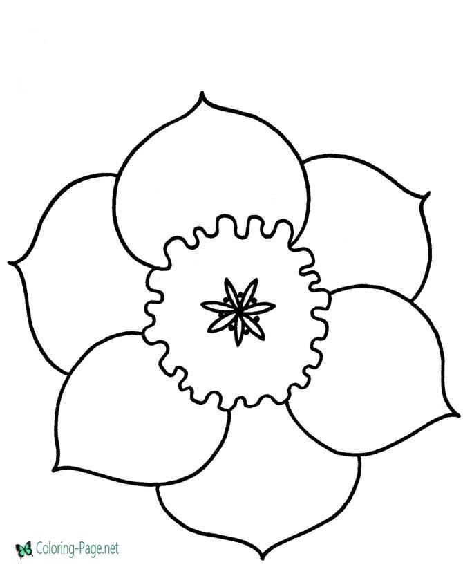 free printable preschool flower coloring pages coloring pages for kids flowers coloring pages color pages free coloring flower preschool printable