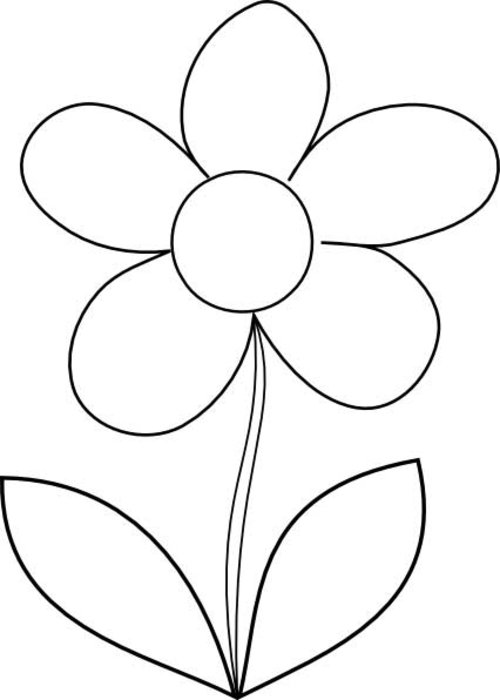 free printable preschool flower coloring pages flower template for childrens activities flower pages coloring preschool free flower printable