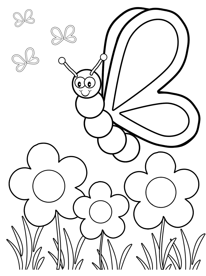 free printable preschool flower coloring pages flower template for childrens activities printable flower printable preschool free pages coloring