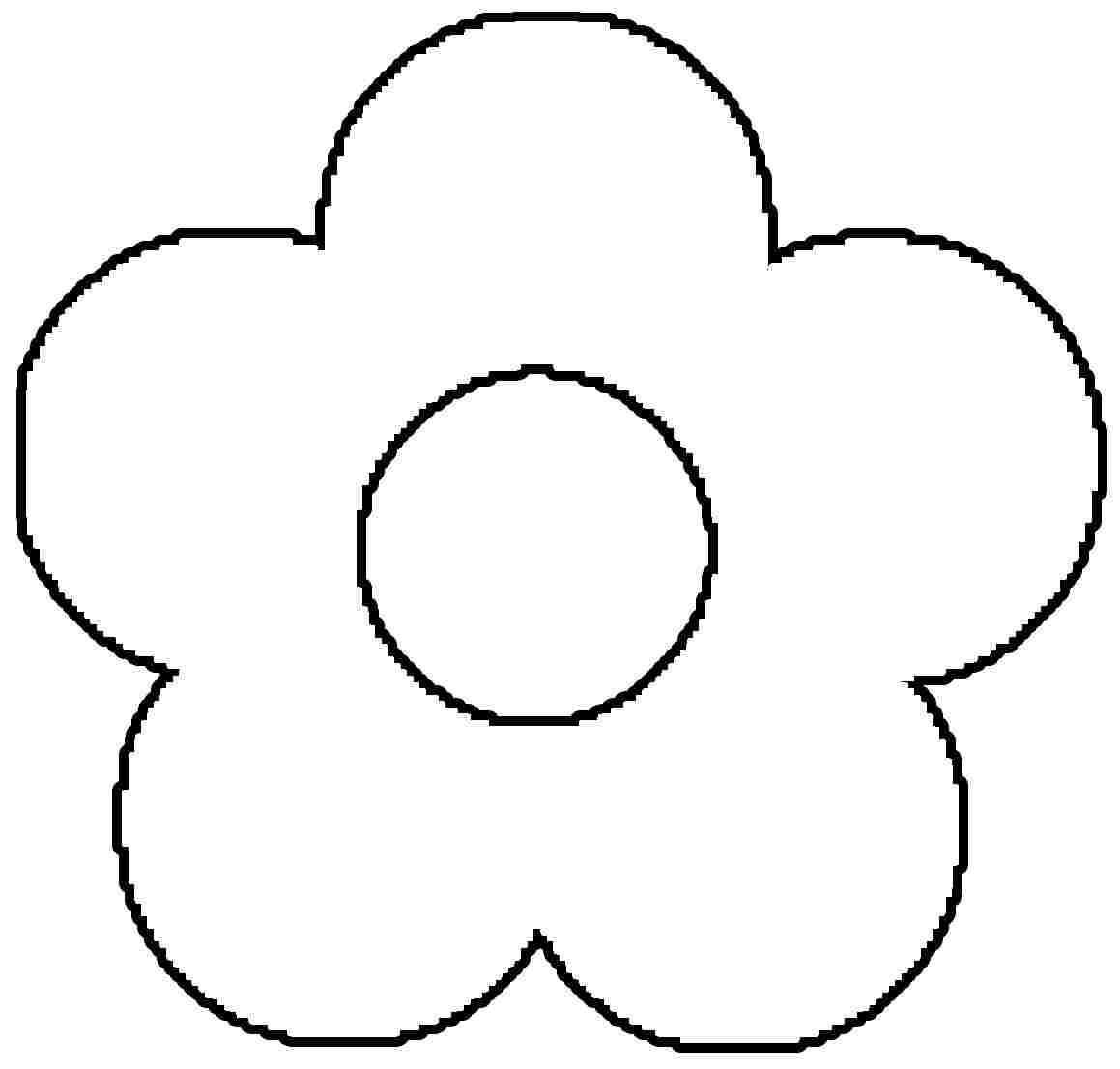 free printable preschool flower coloring pages very simple flower coloring page for preschool simple flower pages free preschool coloring printable
