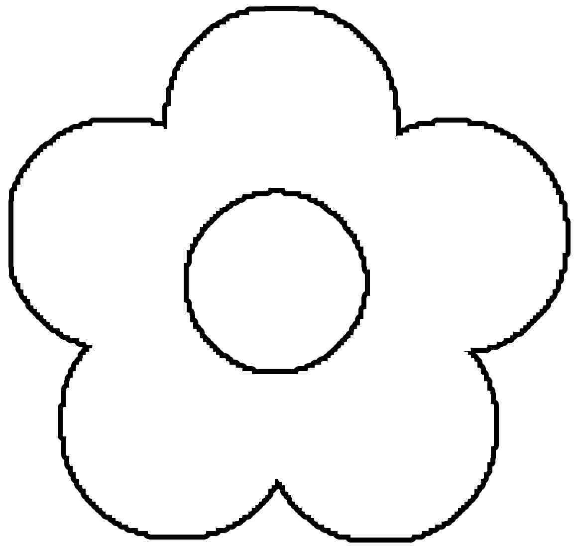 free printable preschool flower coloring pages very simple flower coloring page for preschool simple flower pages free preschool coloring printable