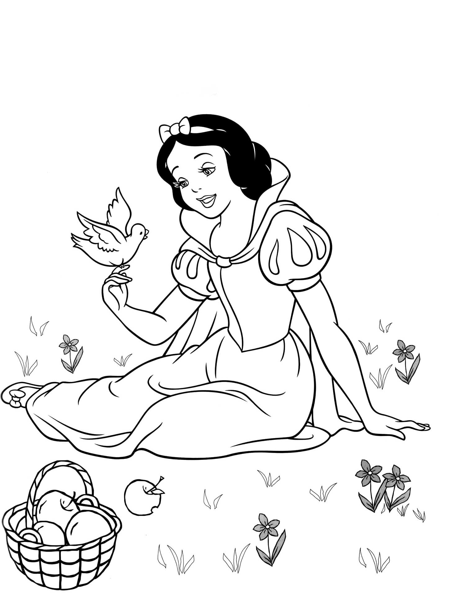 free snow white coloring pages 20 best images about snow white clock on pinterest white free coloring snow pages