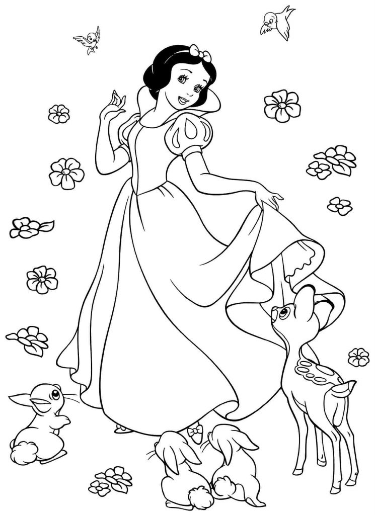 free snow white coloring pages snow white coloring pages from disney princess cartoon pages free snow coloring white