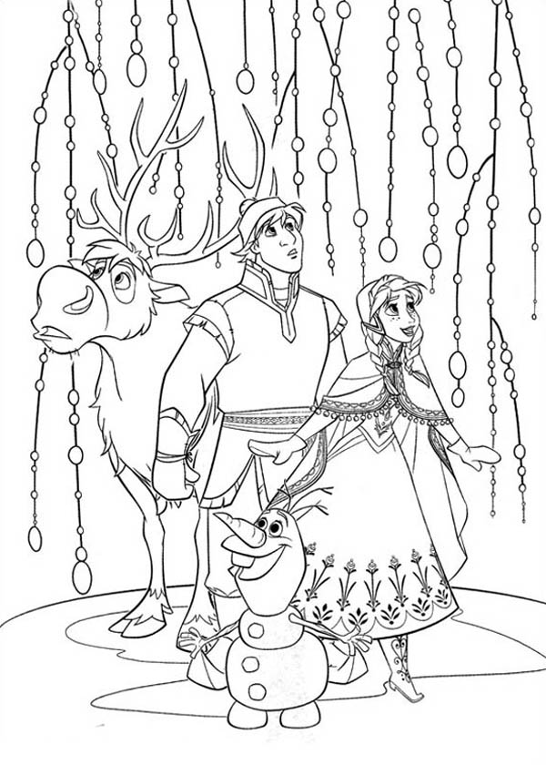 frozen coloring pin on camp frozen coloring