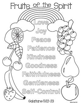 fruit of the spirit coloring page coloring pages the o39jays and coloring on pinterest page of the spirit fruit coloring