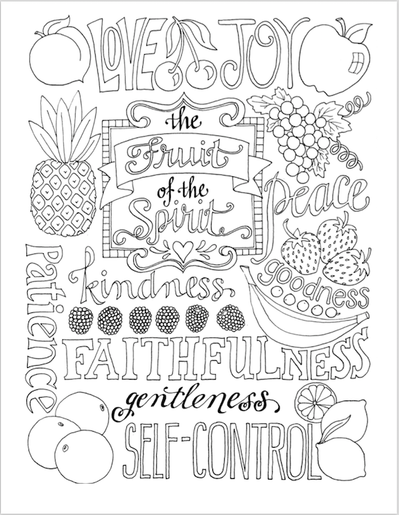 fruit of the spirit coloring page free printable resources games and crafts you can use to the coloring spirit fruit of page