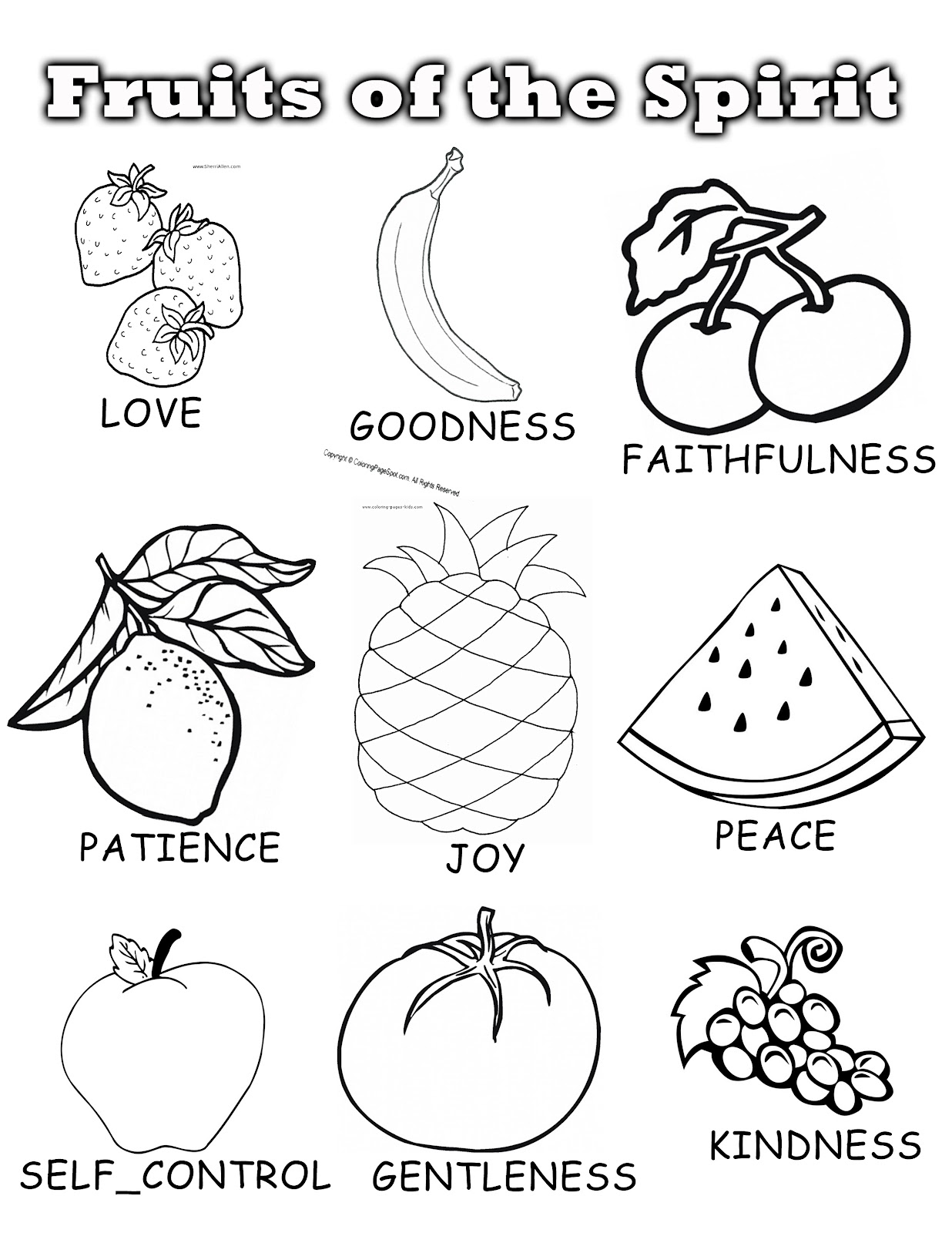 fruit of the spirit coloring page fruit of the spirit coloring page fruit coloring the of spirit page