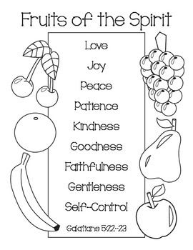 fruit of the spirit coloring page fruit of the spirit coloring pages coloring pages of page the coloring spirit fruit