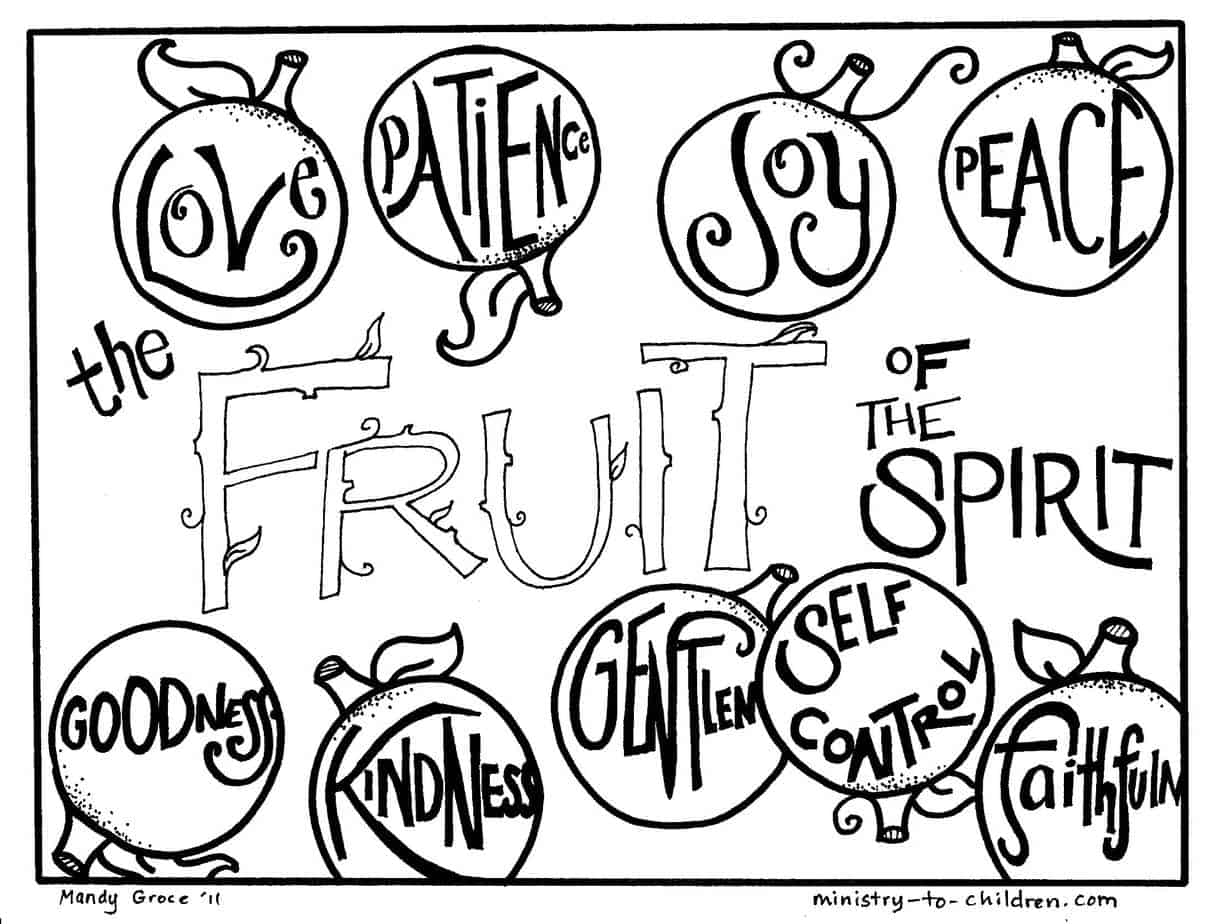 fruit of the spirit coloring page fruit of the spirit matching and coloring cards freebie the page of coloring fruit spirit