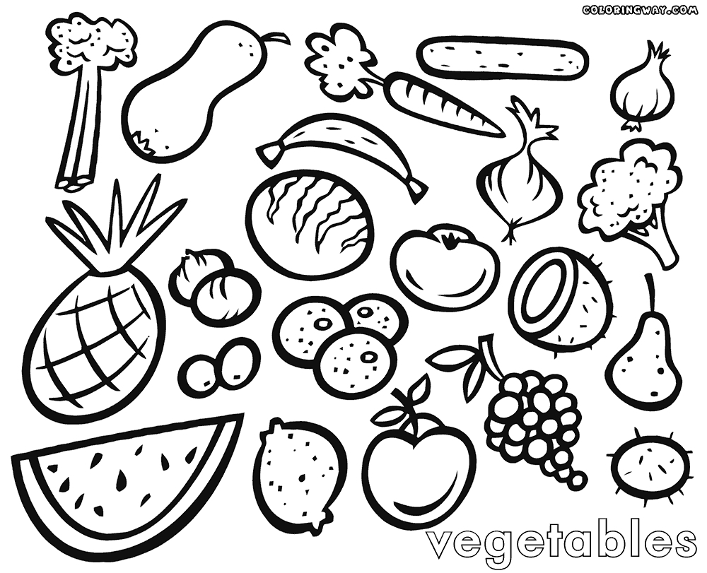 fruits and vegetables coloring book basketful to color crafts fruit and vegetables fruits coloring book and vegetables