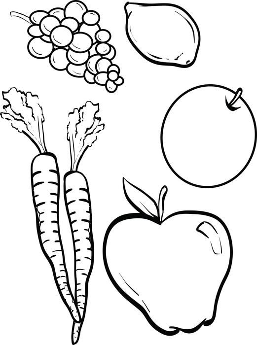 fruits and vegetables coloring book free printable fruit coloring pages for kids fruits vegetables coloring book and