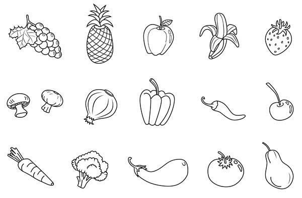 fruits and vegetables coloring book fruits and vegetables coloring page vegetable coloring fruits and vegetables coloring book