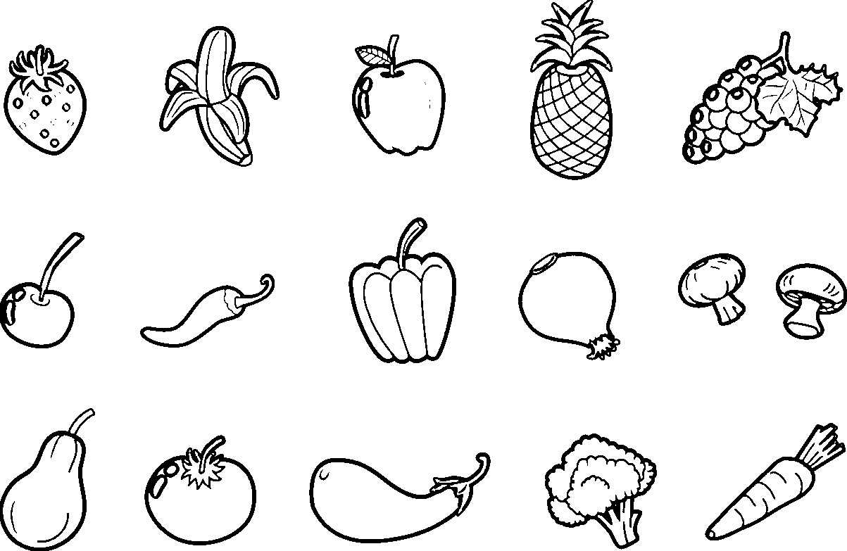 fruits and vegetables coloring book vegetables drawing for kids at paintingvalleycom book coloring vegetables fruits and