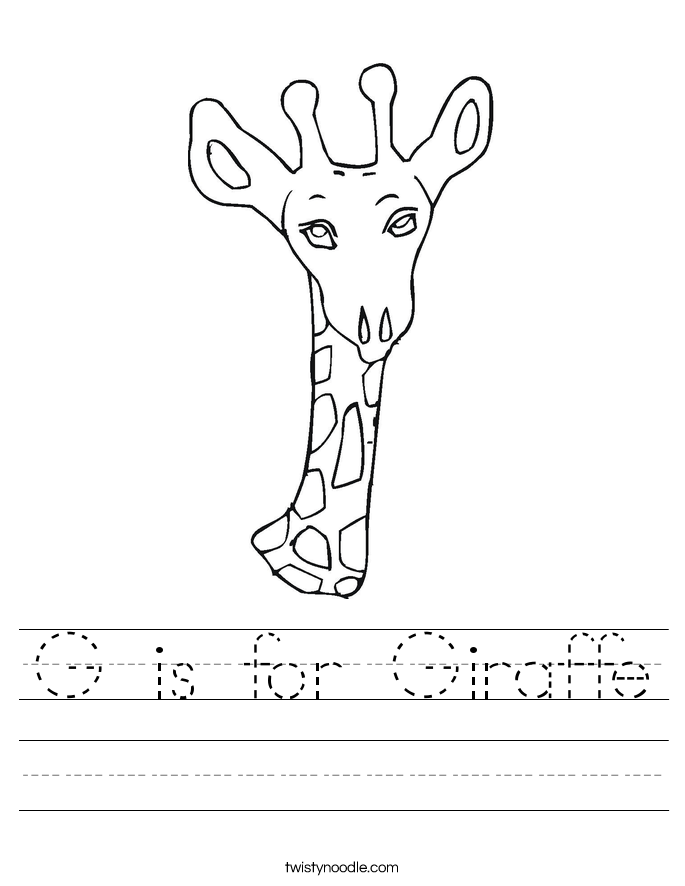 g is for giraffe g is for giraffe worksheet twisty noodle giraffe for g is