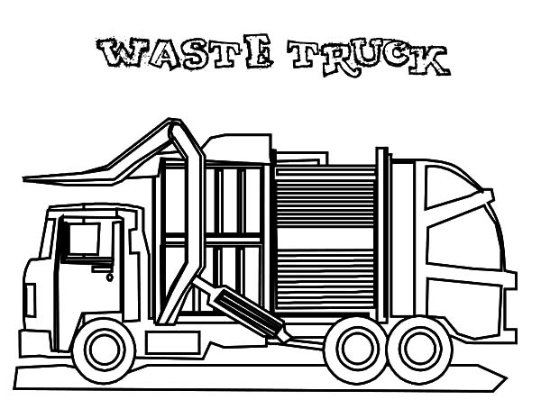 garbage truck coloring page compacting recycle garbage truck coloring pages download truck page coloring garbage