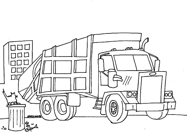 garbage truck coloring page download online coloring pages for free garbage coloring truck page 1 1