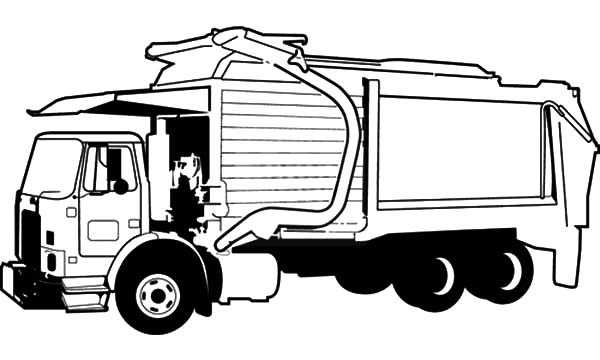 garbage truck coloring page download online coloring pages for free page coloring garbage truck