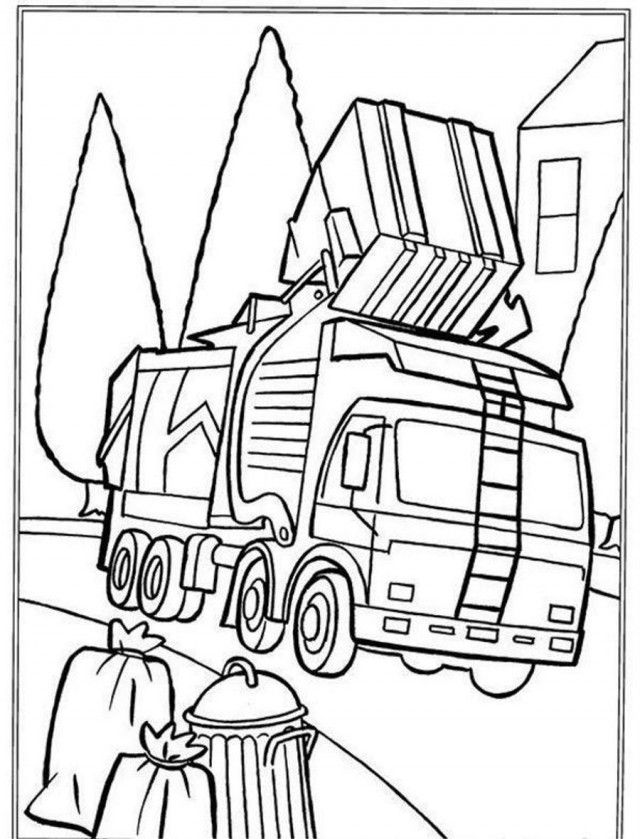 garbage truck coloring page download online coloring pages for free truck page coloring garbage