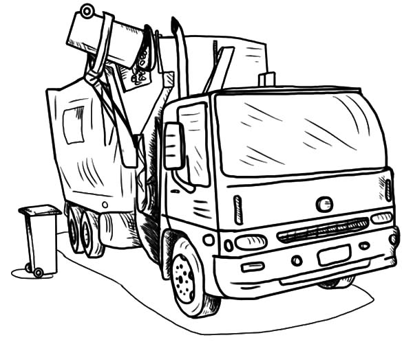 garbage truck coloring page download online coloring pages for free truck page garbage coloring