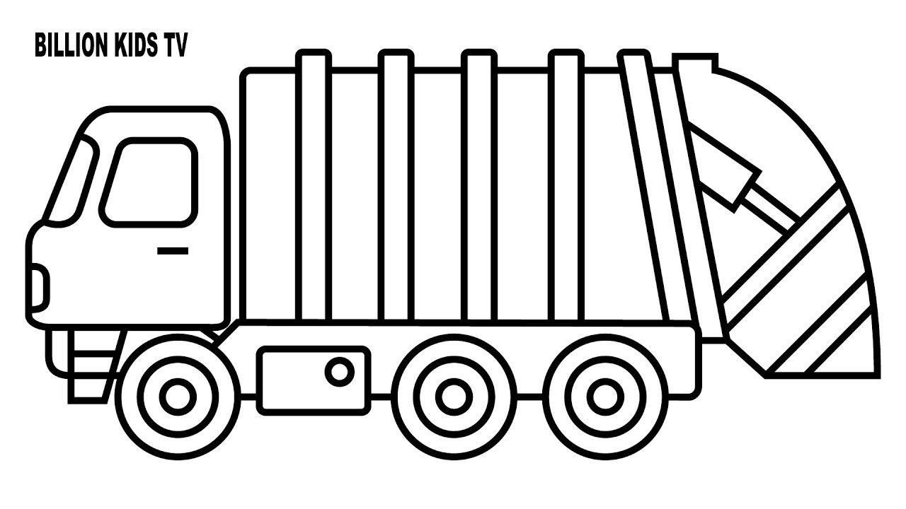 garbage truck coloring page garbage truck coloring page truck garbage page coloring