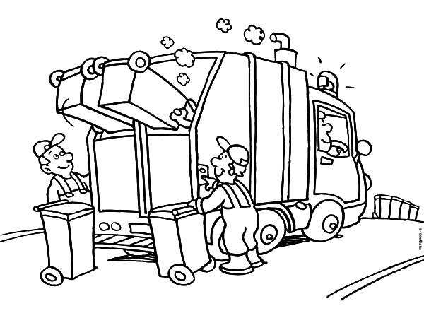 garbage truck coloring page garbage truck coloring pages coloring home coloring page truck garbage