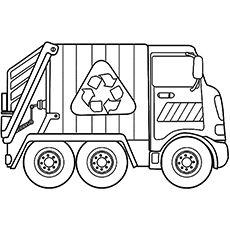 garbage truck coloring page garbage truck coloring pages coloring home truck page garbage coloring