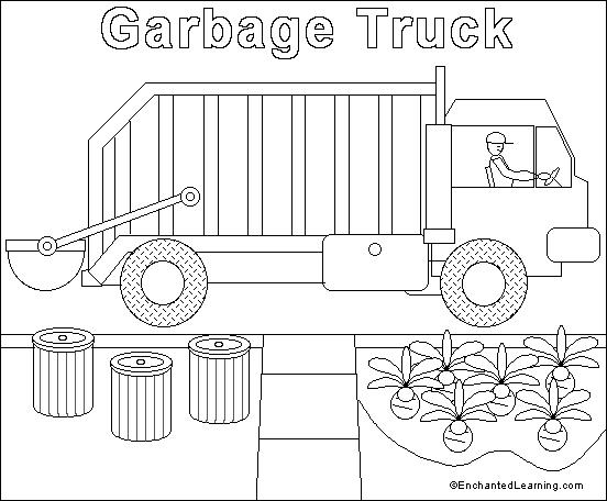 garbage truck coloring page garbage truck coloring pages sketch coloring page coloring truck page garbage