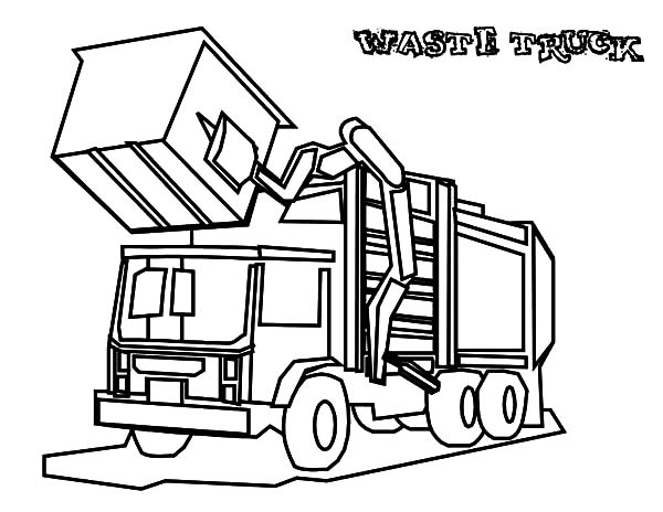 garbage truck coloring page garbage truck daily activity coloring pages download truck coloring garbage page