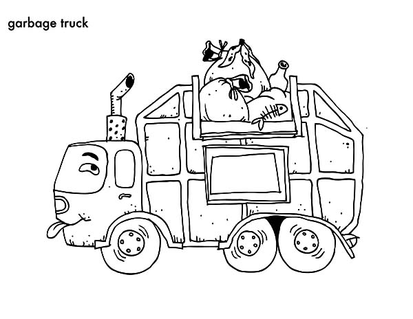 garbage truck coloring page garbage truck online coloring page enchantedlearningcom truck garbage coloring page