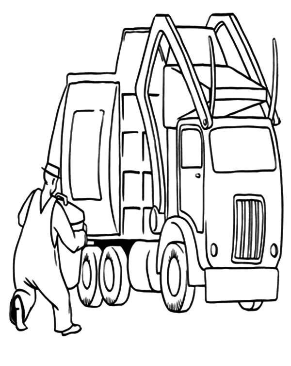 garbage truck coloring page how to draw a garbage truck clipartsco garbage page coloring truck