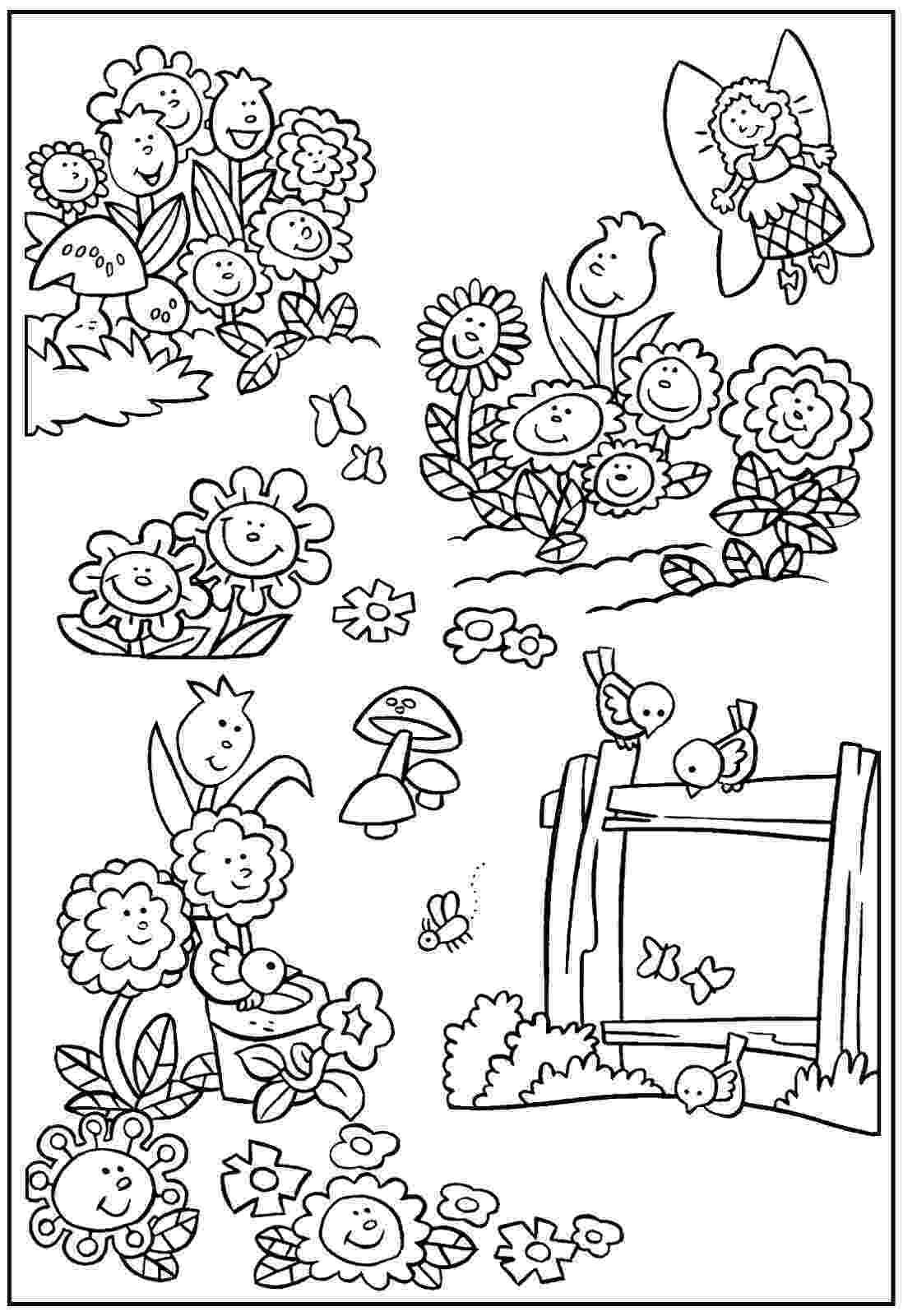 garden coloring daisy flower garden coloring page download print garden coloring