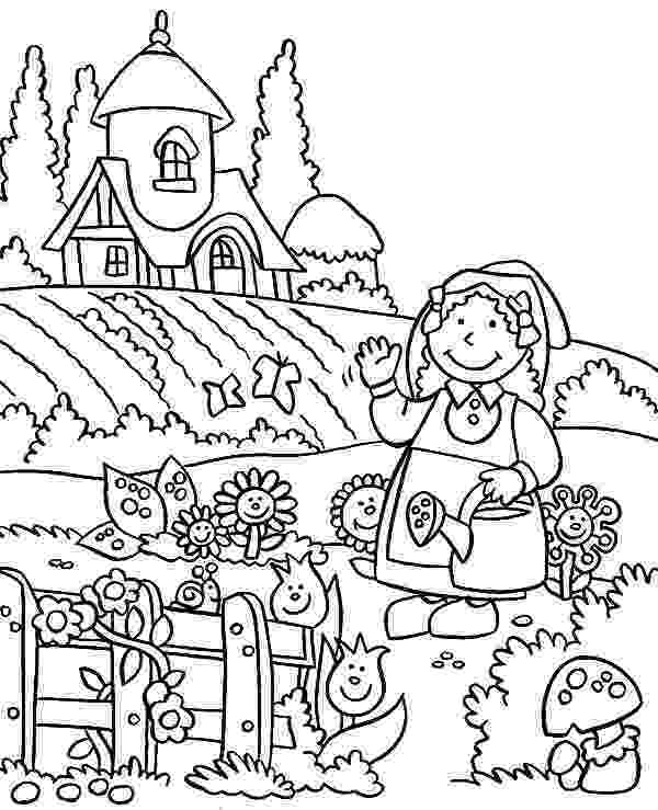 garden coloring favorite paint book little girls q is for quilter garden coloring