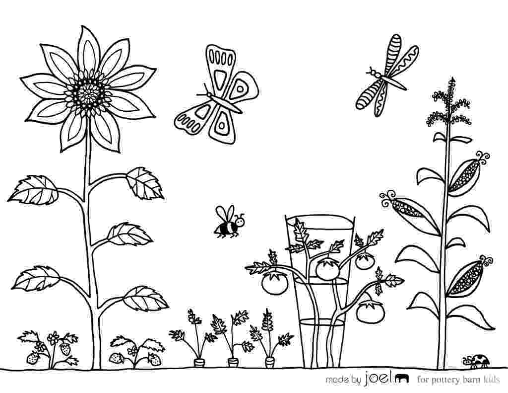 garden coloring girl gardening familycornercom garden coloring