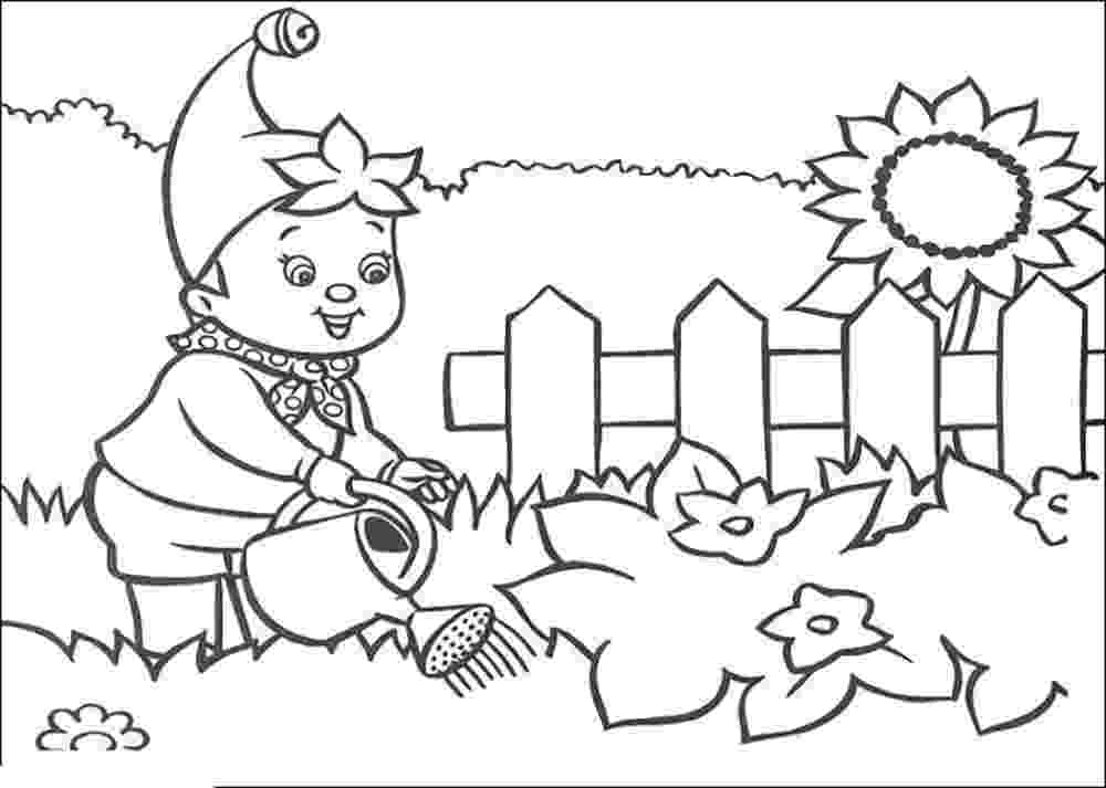 garden coloring kids gardening coloring pages free colouring pictures to garden coloring