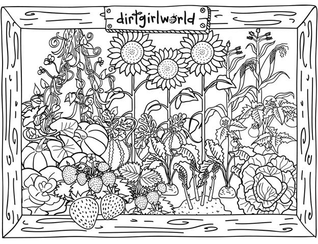 garden coloring my little house anna and the flower garden coloring pages garden coloring