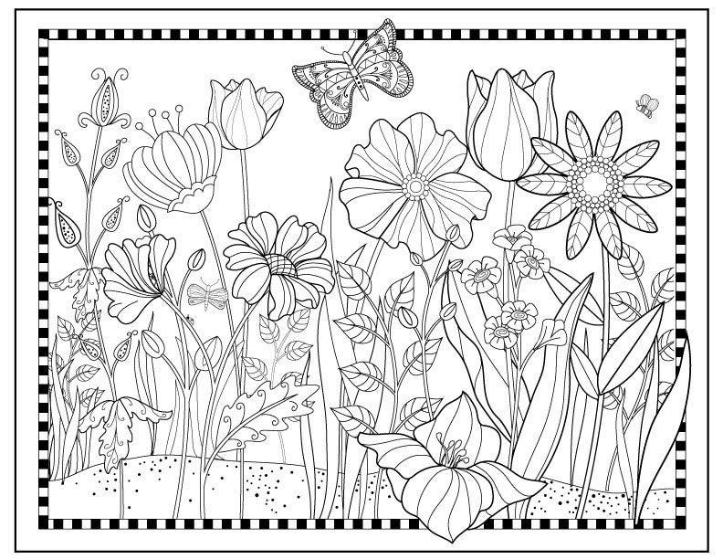 garden coloring pages printable pleasant view of some attractive gardens 17 gardens pages printable coloring garden