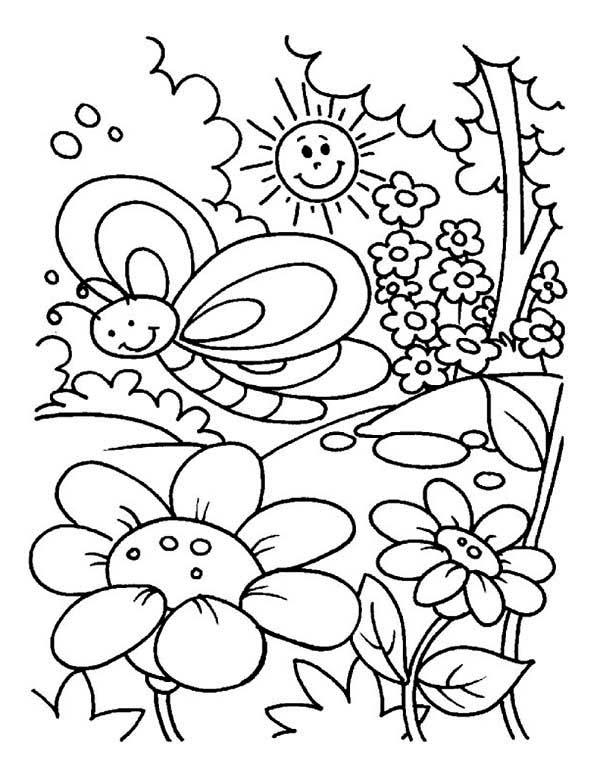 garden coloring sheet garden drawing for kid at getdrawingscom free for garden coloring sheet