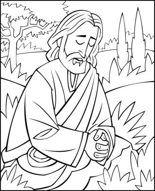 garden of gethsemane coloring pictures jesus praying in the garden of gethsemane the disciples pictures garden gethsemane coloring of
