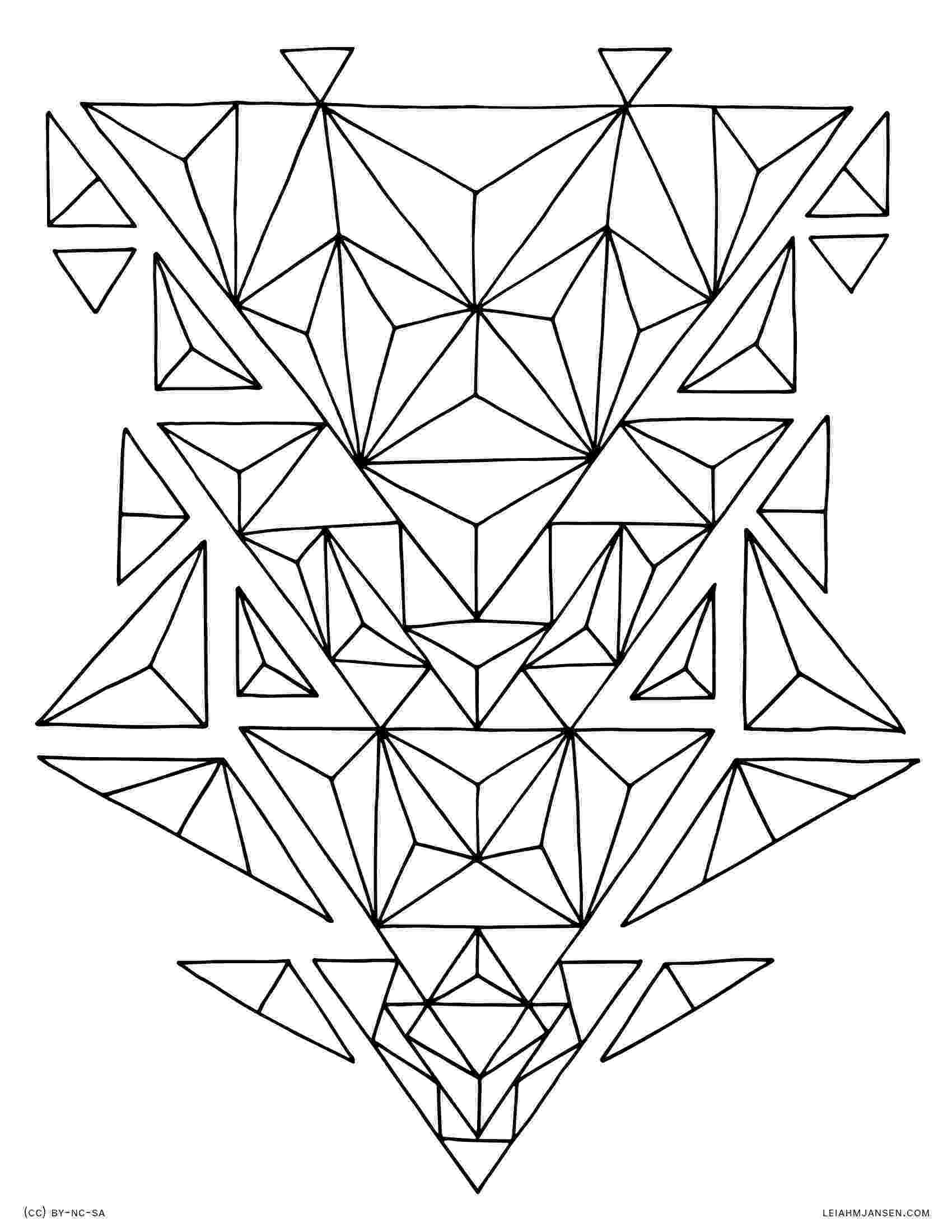 geometric pictures to color coloring pages geometric pictures to color